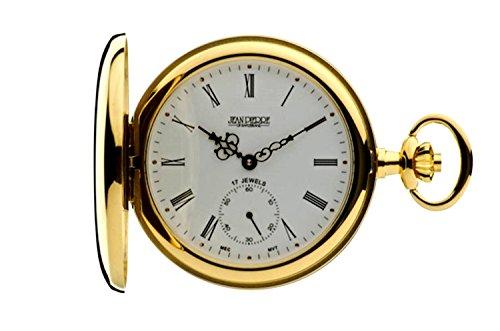 Jean Pierre chapado en oro Hunter reloj de bolsillo, Mecánico. La Federación _ G102PM