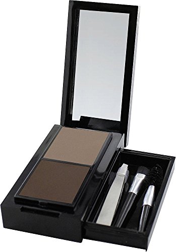 SANTE Naturkosmetik Eyebrow Talent Kit, Set aus Augenbrauenpuder, Applikator, Bürstchen & Pinzette, Karminfrei, Natural Make-up, 2,4 g