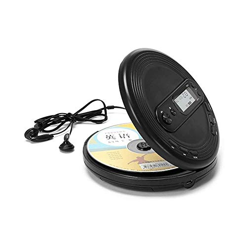 Z-Color Reproductor de CD portátil de Discos compactos Reproductor de Auriculares y Cable de Carga USB contra Saltos de Protección/a Prueba de Golpes Pequeño CD de música Walkman Jugadores for Auto