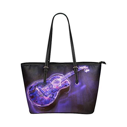 Shop Taschen Für Frauen Gitarre Akustische Wellen Licht Logos Musik Leder Hand Totes Tasche Kausale Handtaschen Reißverschluss Schulter Organizer Für Dame Mädchen Frauen Für Frauen Taschen