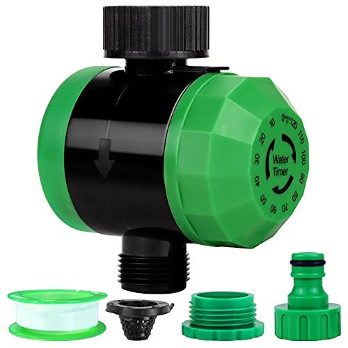 Joyhoop Timer Termporizzatore Meccanico per irrigazione da 15 Fino a 120 Minuti, Timer meccanico irrigazione automatica giardino, Impermeabile IP64 Sistema di controllo dell'irrigazione
