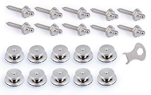 Tenax-Set 10 x Schraube und Oberteil, 1 x Schlüssel, Gewindelänge 22 mm