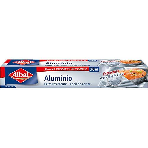 Albal Papel de aluminio, extra-resistente, fácil de cortar, 30 m