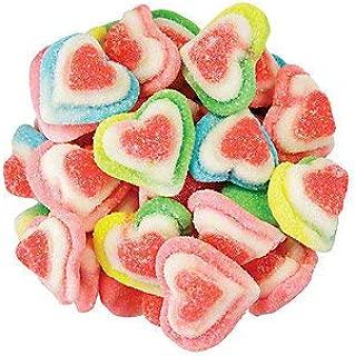 FirstChoiceCandy Valentine Sugared Rainbow Gummy Triple Hearts (2LB)