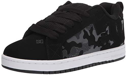 DC Herren Court Graffik Casual Skate Schuh, (Schwarz-Camouflage-Muster), 38.5 EU