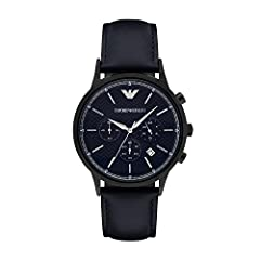 Movement: chronograph Durable mineral crystal protects watch from scratches Analog-quartz Movement Case Diameter: 43mm.Water Resistant To 165 Feet Case depth :11mm approx