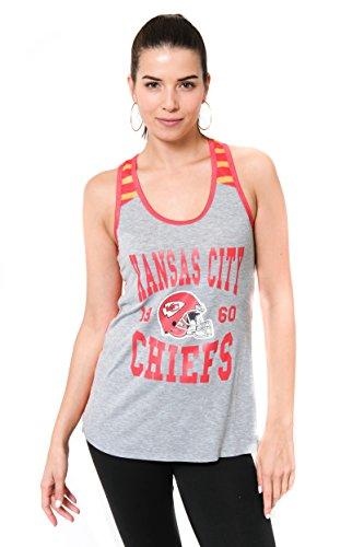 Ultra Game NFL Kansas City Chiefs Womenss Jersey Tank Top Sleeveless Mesh Tee Shirt, Team Color, Medium