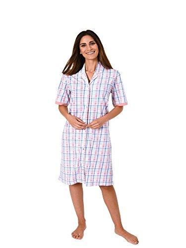 Normann Damen Nachthemd Kurzarm zum durchknöpfen 181 214 90 204, Farbe:rosa;Größe:44/46