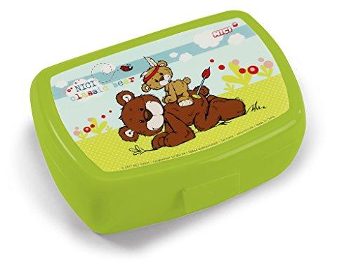 NICI 41523 Classic Bear Brotdose mit Bären, 17 x 12 x 6,8 cm