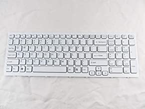 Laptop Keyboard for Sony Vaio VPC-EB White US PCG-71311M 71312M Frame + Clear Protector Cover