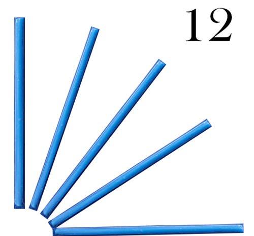 LIUMY Drain Sticks - macht den Abfluss zu Hause sauber | Drain Sticks für erstopfte Rohre in Bad, Spülbecken, Dusche,Küche Spülbecken & WC & Waschbecken, Badewanne usw. BLAU 12 Stück