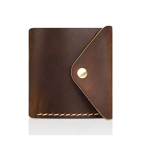 ZHANGYANTY Portafoglio Uomo Premium Leather Wallet, RFID Block, Slim, Bi-Fold, Corto, Portafoglio Tasca Frontale Uomo Tasca per Monete (Color : Yellow)