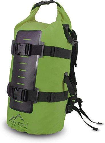 normani Wasserdichter Rucksack mit Seesack-Verschluss 40 Liter Farbe Grün