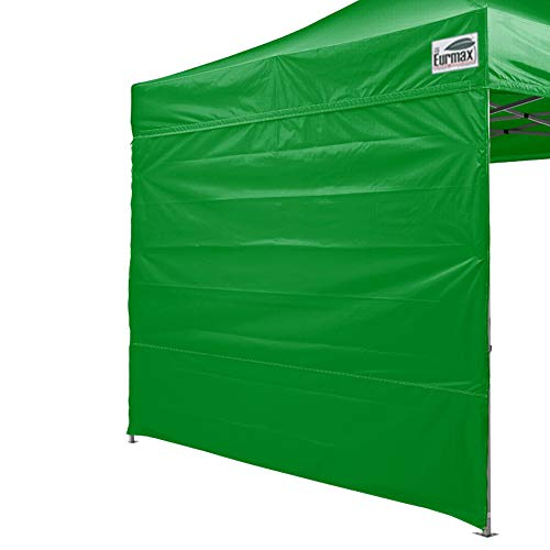 Eurmax Instant SunWall for 10x10 Pop up Canopy, Outdoor Instant Canopies, Removable Zipper End, 1 Pack Sidewall Only (Kelly Green)