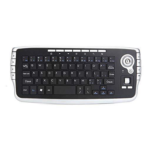 Mehrere Multimedia-Tasten, bequemes Gefühl, starke Anti-Interferenz-Fähigkeit, kompatibel mit mehreren Sprachen kombiniert drahtlose Tastatur mit Trackball,