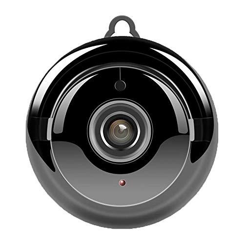Cámara interior mini IP HD 1080P inalámbrica de visión nocturna de dos vías de audio detección de movimiento monitor de bebé V380 cámaras WiFi para seguridad en el hogar, color negro