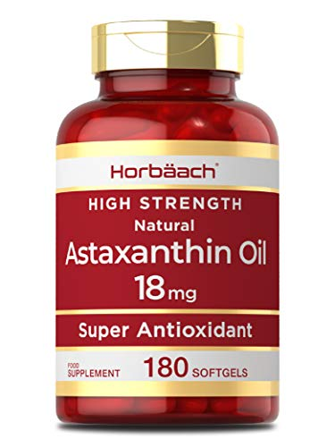Astaxanthin 5% Oil 18mg | 180 Softgel Capsules | Natural | Non-GMO, Gluten Free Supplement