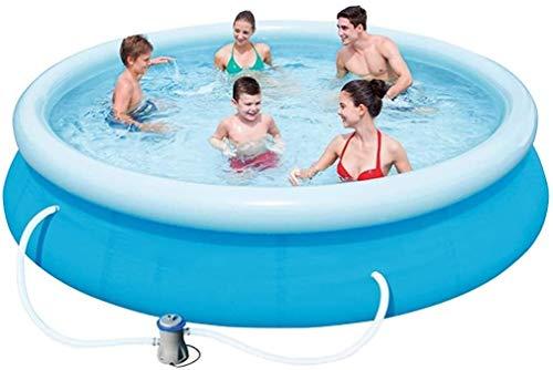 Dljyy Piscinas for Adultos niños Espesados Piscina al Aire Libre Piscina for niños Adecuado for 5-7 Personas sin Necesidad de instalación del Paquete asequible con Bomba del Filtro