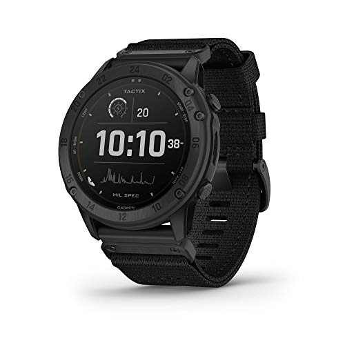Garmin tactix Delta Solar, Solar-Powered Specialized Tactical Watch, Ruggedly Built to Military Standards, Night Vision Compatibility, Black (010-02357-10)