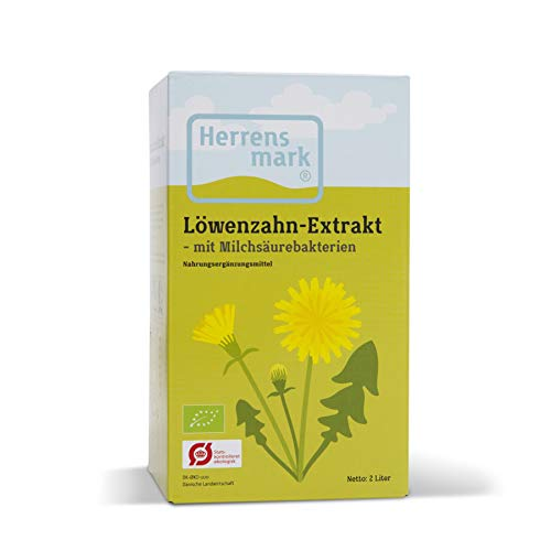 Herrens Mark - Fermented Dandelion Extract - From the leaves, flowers and roots of the dandelion - Supports the natural digestion and liver function.
