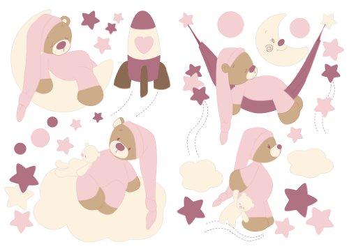 Nattou Stickers Décoration Rose