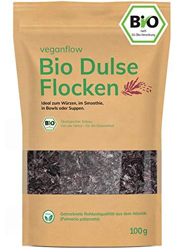 veganflow® Dulse Flocken Bio aus dem Atlantik, Rotalgen für Detox-Smoothie oder als Trocken-Gemüse