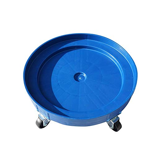 30 Gallon and 55 Gallon Heavy Duty Plastic Drum Dolly – Durable Plastic Drum Cart 900 lb. Capacity- Barrel Dolly with Swivel Casters Wheel,Blue
