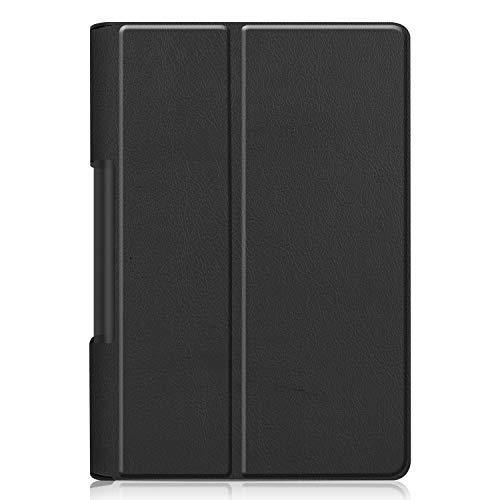 Kepuch Custer Hülle für Lenovo Yoga Smart Tab YT-X705F / Yoga Tab 5,Smart PU-Leder Hüllen Schutzhülle Tasche Case Cover für Lenovo Yoga Smart Tab YT-X705F / Yoga Tab 5 - Schwarz
