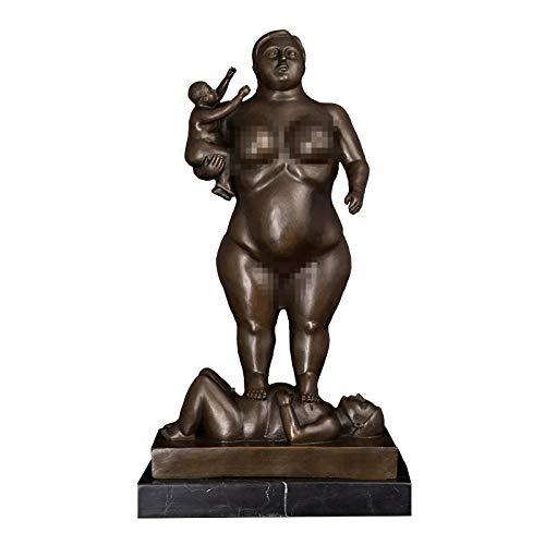 zzzddd Skulptur,Home Decoration Bronzestatue Für Frau Mit Klassischen Antiken Skulptur Figur Statue