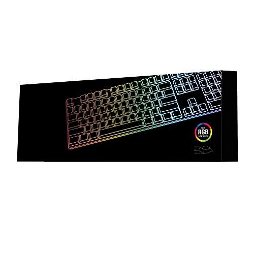 Sharkoon PureWriter RGB Mechanische Low Profile-Tastatur (RGB Beleuchtung, blaue Schalter, flache Tasten, Beleuchtungseffekte, abnehmbarem USB Kabel) Blau Schalter - 5