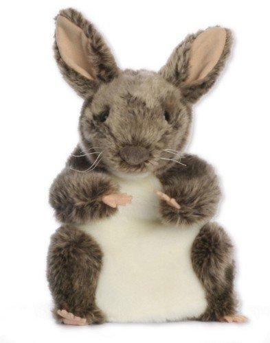 alles-meine.de GmbH Handpuppe - grau Hase / Kaninchen - Häschen Tier / Haustier Bauernhof Waldtier - Handspielpuppe - Plüschtier & Kuscheltier - für Kinder & Erwachsene