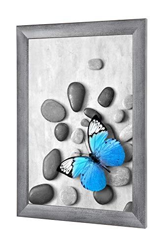 OlimpJOY Bilderrahmen 57 x 123 cm Grau gewischt 35mm MDF Rahmenleiste mit Antireflex-Acrylglas