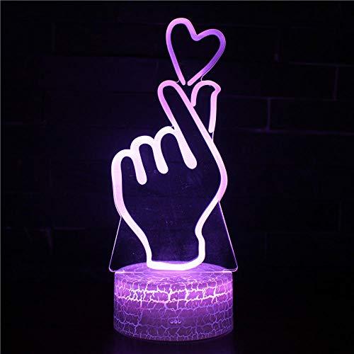 3D Night LightRefill Lámpara de ilusión 3D Lámpara de cabecera 16 colores que cambian con control remoto creativo decoración de habitación cumpleaños personalizado para niños adolescentes hombres