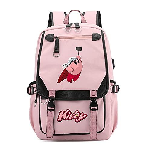 CXWLK Kirby Zaino Donna Zainetto Ragazza Zaini Casual Scuola Zaino Moda Borse A Mano Backpack Daypack Per Scuola Lavoro Pink 46CMX31CMX19CM