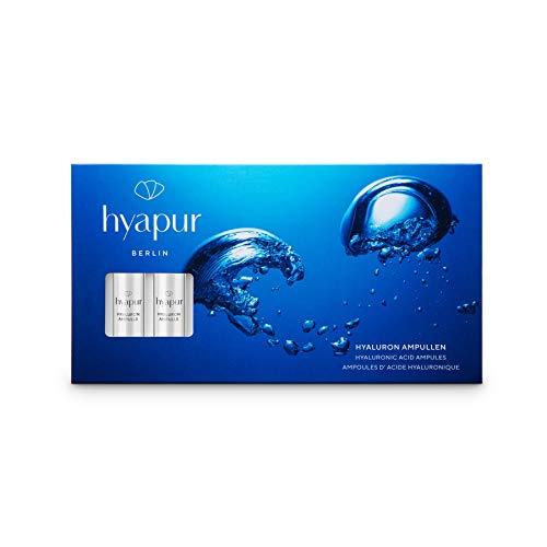hyapur Hyaluron Ampullen 7x1,5 ml mit hochkonzentrierter Hyaluronsäure für praller und straffer aussehende Haut, für Gesicht, Hals und Dekolleté
