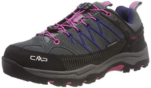 CMP Unisex-Kinder Rigel Low Wp-3Q13244 Trekking-& Wanderschuhe, Grau (Grey-Hot Pink), 34 EU