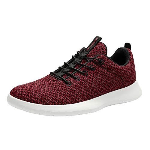 DREAM PAIRS Women's Lightweight Walking Shoes Casual Fashion Sneakers Red Black Size 7 M US Liberty-L