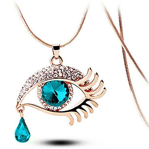 usstore friend necklaces women SISAVE Women's Magic Eye Crystal Romantic Chain Tear Drop Necklace