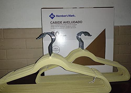 Cabide Aveludado Ultrafino Bege (30)