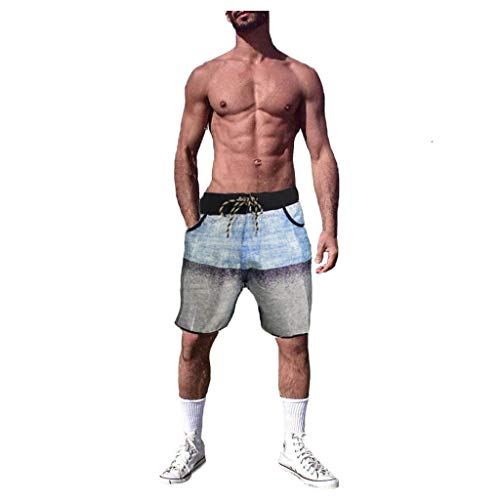 Sale!! Men 's Loose Shorts, Male Summer Beach Pant Training Plus Size Short Pant Bathing Suits