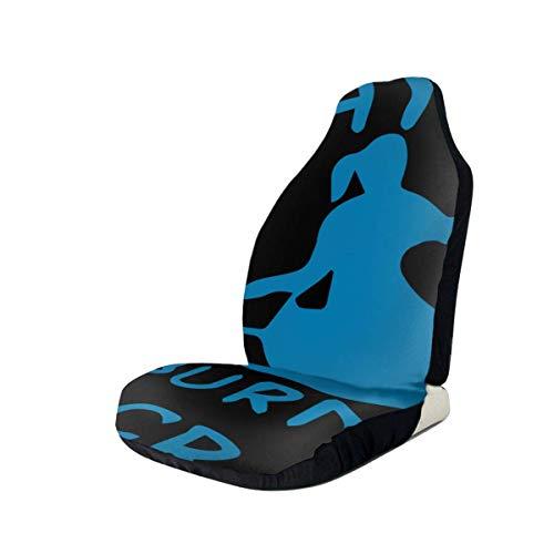 Olive Croft 2PCS Ich kajak, um die verrückten Autositzbezüge abzubrennen - Seitenloser Chic-Stil - Weiches & flexibles Polyester für Auto-UV