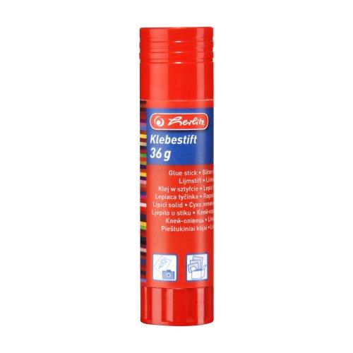 Herlitz 10524098 Klebestift für Papier, Pappe, Fotos und Karton, 36 g, farblos und lösungsmittelfrei LW Tray