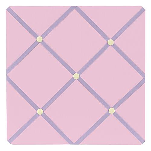 Pink and Purple Butterfly Fabric Memory/Memo Photo Bulletin Board by Sweet Jojo Designs