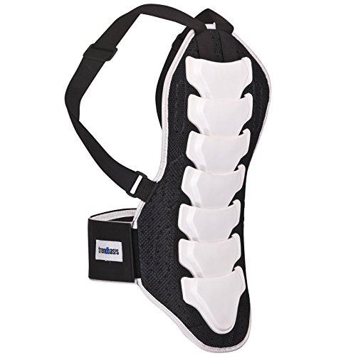 trendbasis Rückenprotektor für Ski und Snowboard - effektiver Schutz der Wirbelsäule - Größe XL (Körpergröße 180-190cm) - Protektorplatten: Weiss