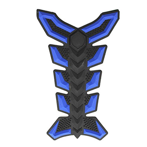 TAKPART Motorcycle Fuel Tank Pads 3D Rubber Tank Protector Gas Oil Fuel Decal and Gel Sticker ATV Vehicles Blue