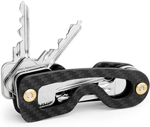 Key Organizer Made in Germany - Carbon Schlüssel Organizer mit Spezial Befestigungssystem und bis zu 18 Schlüssel