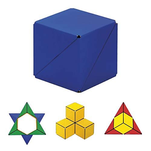 GeoBender - Cubo magnetico 3D 1 x Primary-2 con 104 variaciones - Juguete antiestres de Rompecabezas niños y Adultos - Juegos de Puzzle de Paciencia Creativo - Infintiy Cube de Jugar de Aprendizaje
