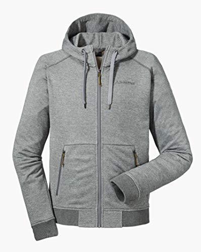 Schöffel Hoody Akureyri M, warme und komfortable Fleece Kapuzenjacke, atmungsaktive Sweatjacke für Männer mit praktischen Taschen Herren, sharkskin, 50
