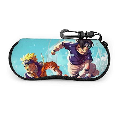 Naruto Familia Anime Gafas de sol Funda Suave Ultra Ligero Neopreno Gafas Fundas Cremallera Unisex Portátil Gafas Protección Casos