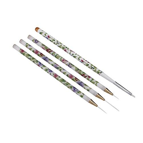 PIXNOR 4pcs Nail Art Crayon de Peinture Ongles Decoration